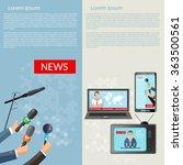 breaking news vector banner... | Shutterstock .eps vector #363500561