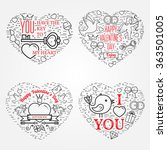happy valentine's day greetings ... | Shutterstock .eps vector #363501005