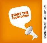 start the countdown | Shutterstock .eps vector #363504221