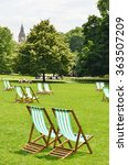 deck chairs in st. james's park ... | Shutterstock . vector #363507209