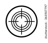 crosshair icon | Shutterstock .eps vector #363507797