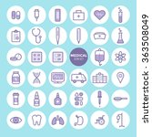 medical and health care icons...