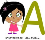 back to school. girl and... | Shutterstock .eps vector #36350812