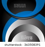 blue background vector overlap... | Shutterstock .eps vector #363508391