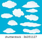 set of clouds background. also... | Shutterstock . vector #36351127