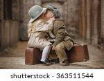 friendly romantic encounter... | Shutterstock . vector #363511544