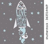 love you to the moon and back... | Shutterstock .eps vector #363514469