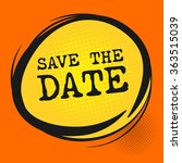 save the date label  vector... | Shutterstock .eps vector #363515039