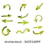 set watercolor arrows different ... | Shutterstock . vector #363516899