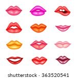 set of glossy lips of different ... | Shutterstock .eps vector #363520541
