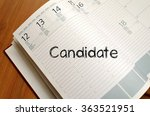 candidate text concept write on ... | Shutterstock . vector #363521951