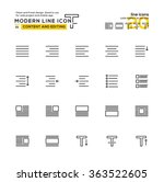 outline icon set of content and ...