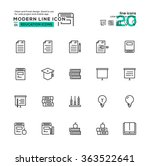 outline icon set of education...