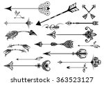 a set of cute hipster arrows | Shutterstock .eps vector #363523127
