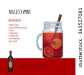 Mulled Wine In Mason Jar With...