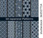 set of ten japanese patterns | Shutterstock .eps vector #363527714