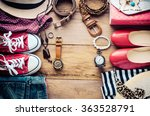 clothing and accessories for... | Shutterstock . vector #363528791