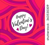 valentine's day card  for... | Shutterstock .eps vector #363530309