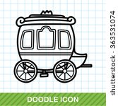 carriage doodle | Shutterstock .eps vector #363531074