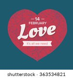 heart triangulated isolated st. ... | Shutterstock .eps vector #363534821