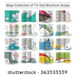 corporate business tri fold... | Shutterstock .eps vector #363535559