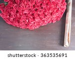 Stock photo big bouquet of red roses one hundred and one dutch rose florist flower shop holland wrapping 363535691
