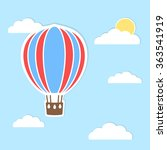 hot air balloon vector... | Shutterstock .eps vector #363541919