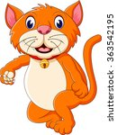 cute tiger cartoon roaring | Shutterstock .eps vector #363542195