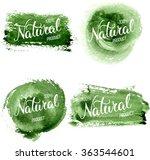 original hand lettering natural ... | Shutterstock .eps vector #363544601
