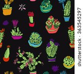 set of isolated flowering...   Shutterstock .eps vector #363545297