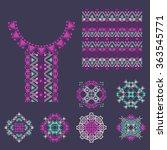 vector set of decorative...   Shutterstock .eps vector #363545771