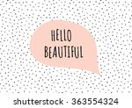 cute and modern st. valentine's ...   Shutterstock .eps vector #363554324
