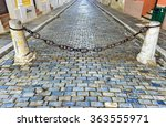 Blue Cobblestone Streets Of Sa...