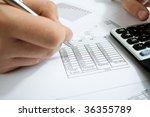 financial data analyzing.... | Shutterstock . vector #36355789