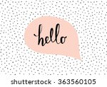 Stock vector cute and modern st valentine s day greeting card template speech bubble with hand lettered 363560105