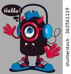 cute monster vector design | Shutterstock .eps vector #363561119