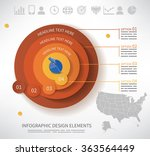 depth chart with four stages... | Shutterstock .eps vector #363564449