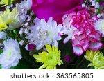 bouquet of different flowers... | Shutterstock . vector #363565805