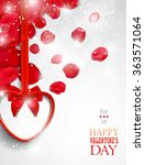 valentine's day greeting card... | Shutterstock .eps vector #363571064