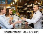 young bartender and smiling... | Shutterstock . vector #363571184