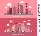 vector illustration. city with... | Shutterstock .eps vector #363575201