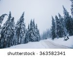 Winter Landscape In Mountains
