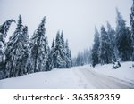 winter landscape in mountains | Shutterstock . vector #363582359
