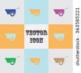 construction wheelbarrow icon   Shutterstock .eps vector #363585221