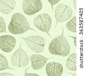 seamless pattern with leafs... | Shutterstock .eps vector #363587405