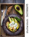 Poached Egg And Sliced Avocado...