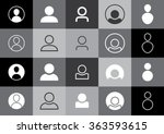 profile picture icons   avatar | Shutterstock .eps vector #363593615