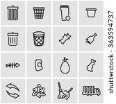 vector line garbage icon set.  | Shutterstock .eps vector #363594737