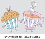 there's muffin i wouldn't do... | Shutterstock .eps vector #363596861