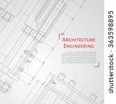 vector technical blueprint of ... | Shutterstock .eps vector #363598895